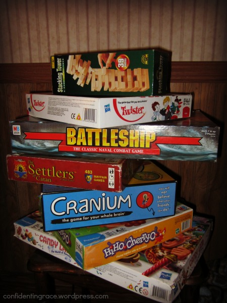 Our Big List of Favorite Games, games for families to play together, a big list of games categorized by age and use, family game night, games kids love