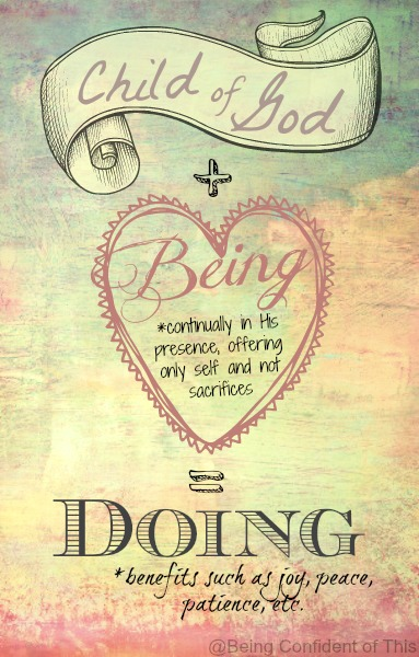 being vs. doing 1