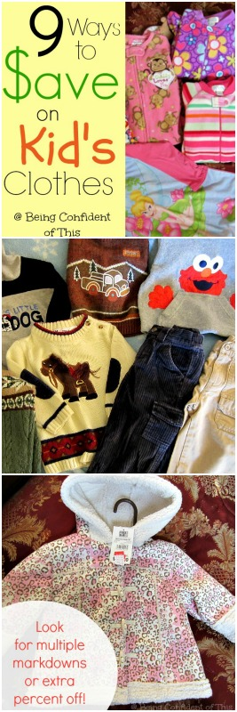 Saving money on kid's clothes, clothing budget, frugal, stewardship, single income family