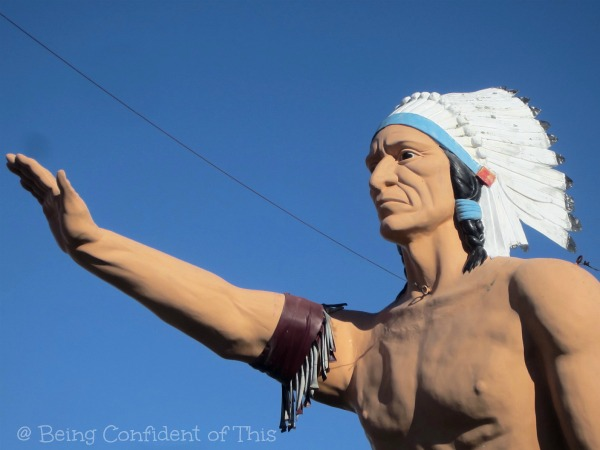 Indian statue, small town, Midwest, Being Confident of This
