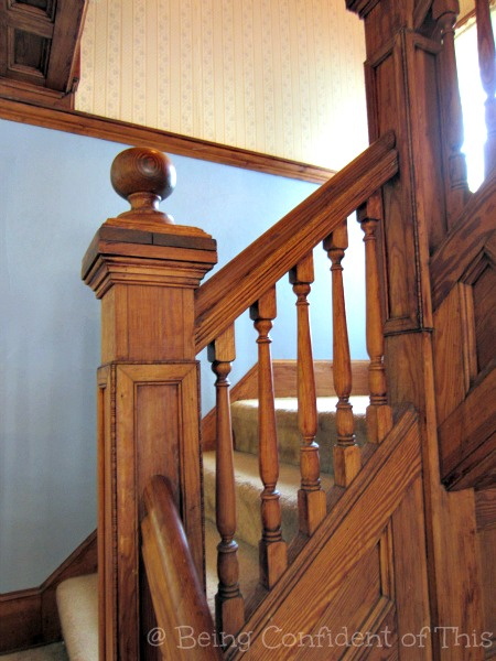 stairway, old architecture, home, small town USA, Midwest, #TheLoft, Being Confident of This