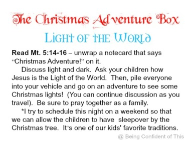 Christmas Adventure Box free printables, family advent activity, kid-friendly advent, easy advent for the family, advent for kids, homeschool, church, AWANA