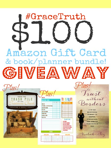 #GraceTruth Link party Giveaway!  amazon card and book bundle, free, Grace and Truth Christian Living link-up, linky party, gift card givewaway